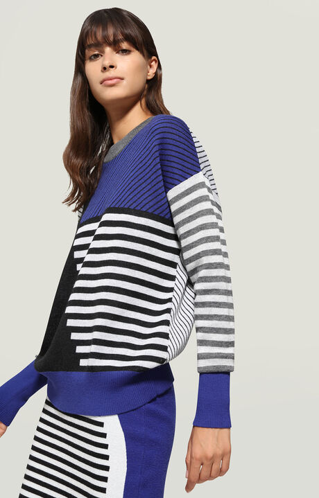 SWEATER, Bluette/Blanco/Negro/Gris, hi-res-1