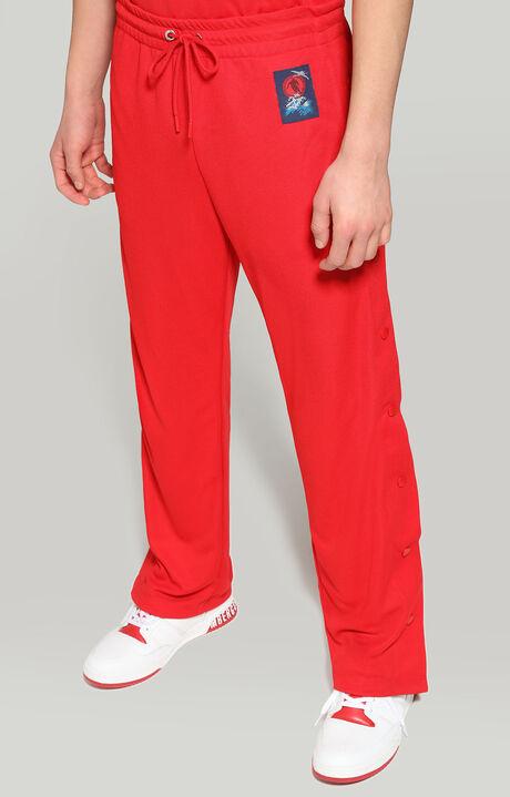 FLEECE PANTS, RED, hi-res-1