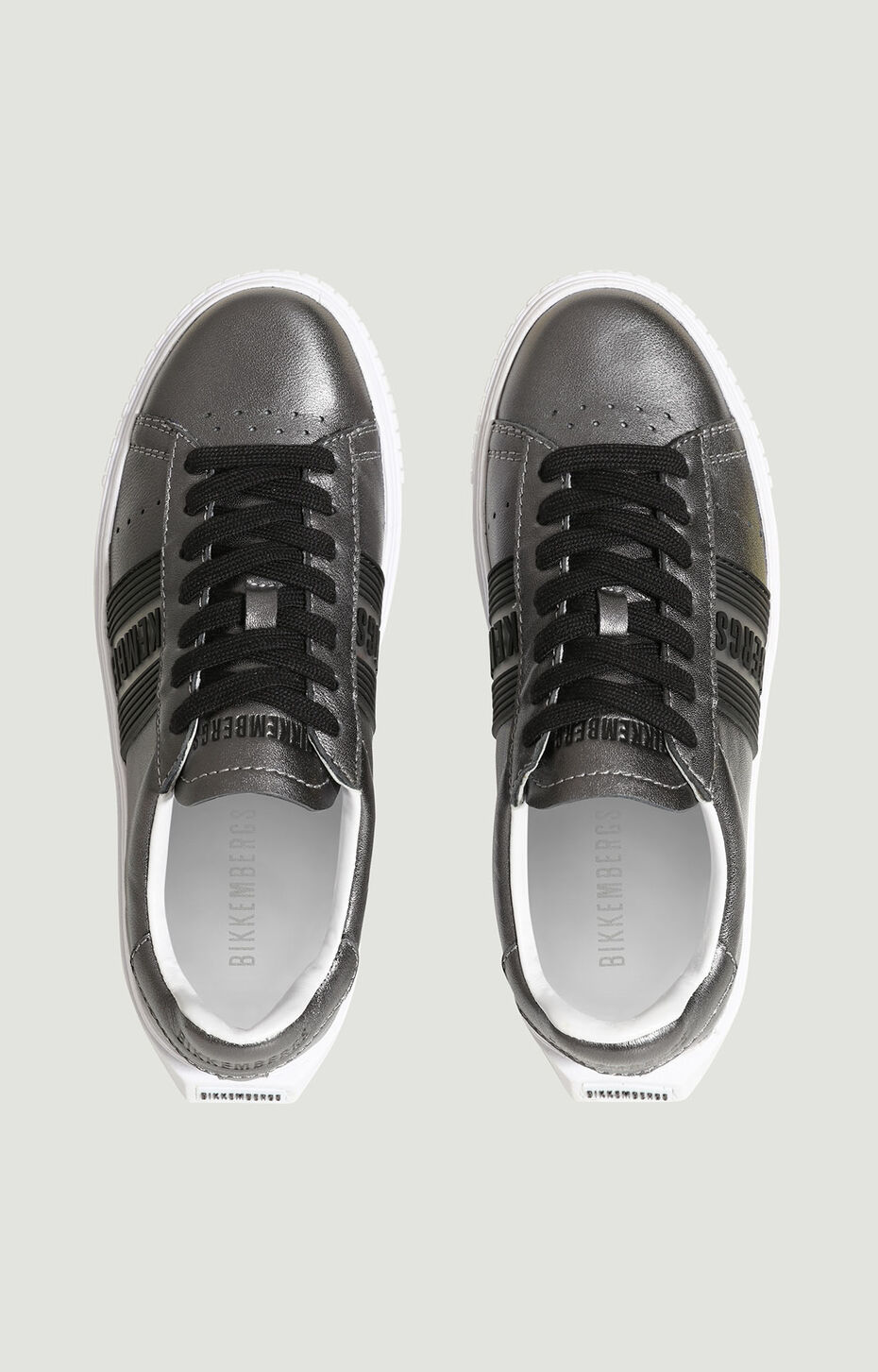 CLEOFE  -  LOW TOP LACE UP, Gunmetal, hi-res-1