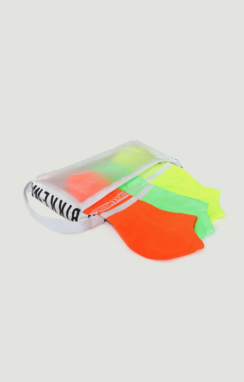 SOCKS NEON BOX 3 SNEAKERS, YELLOW, hi-res-1