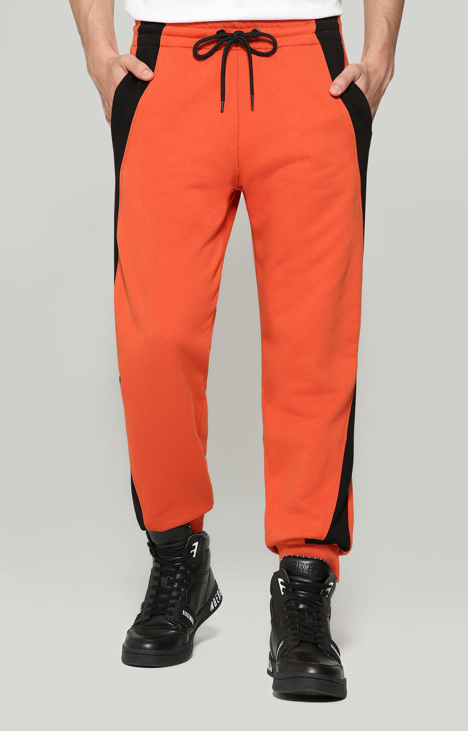 FLEECE PANTS, ORANGE/BLACK, hi-res-1