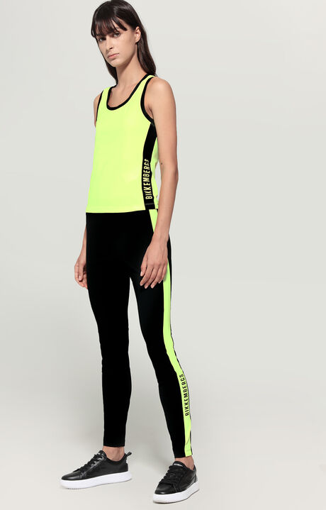 TROUSERS, Black/Fluo Yellow, hi-res-1