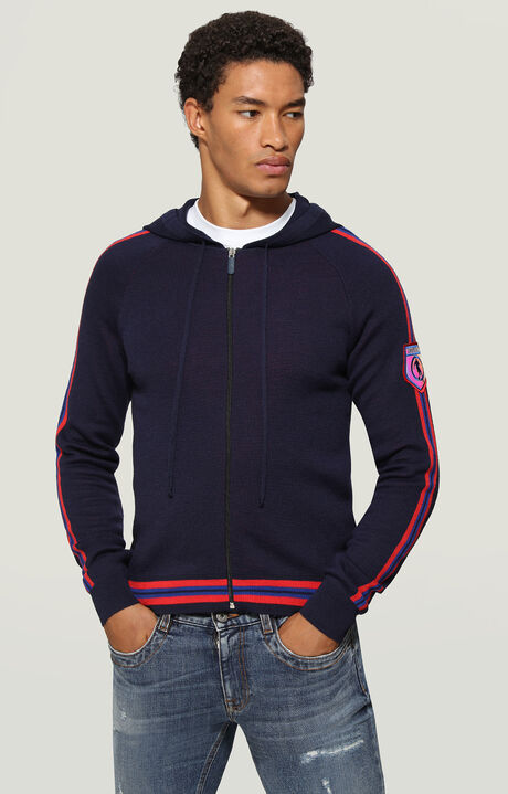 JACKET, Navy/Red, hi-res-1