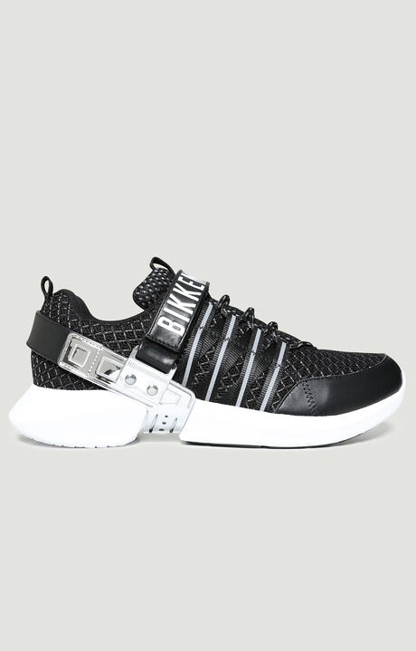GEDEON  -  LOW TOP LACE UP, BLACK/SILVER, hi-res-1