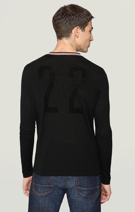SWEATER, BLACK/WHITE, hi-res-1