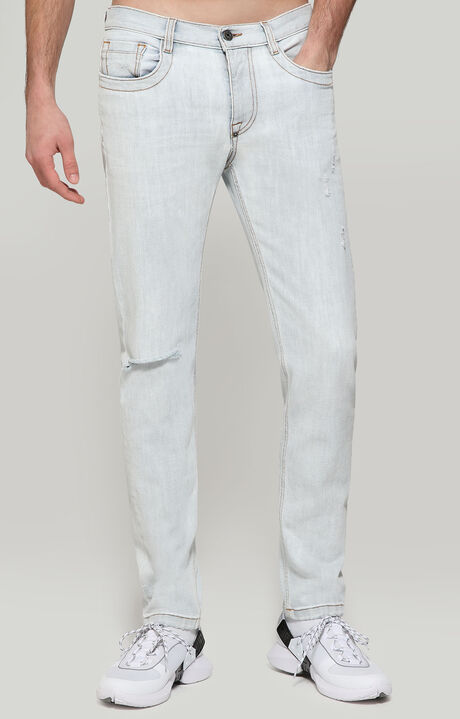 TROUSERS DENIM, GREY, hi-res-1
