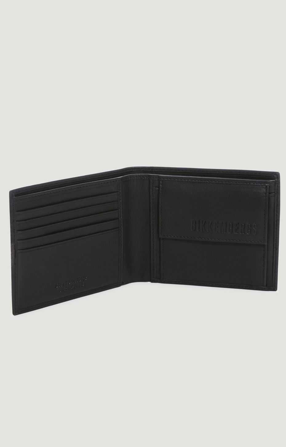 MINI BILLFOLD 5 C/C + COIN POCKET TAPE, Black, hi-res-1