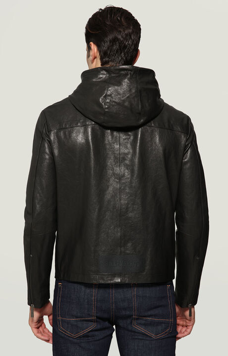 LEATHER JACKET, BLACK, hi-res-1