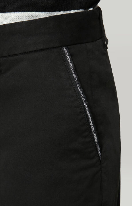 TROUSERS G/D WITH LOGO TAPE, BLACK, hi-res-1