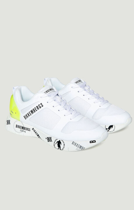 ATHLETIC/SNEAKERS, WHITE/YELLOW FLUO, hi-res-1