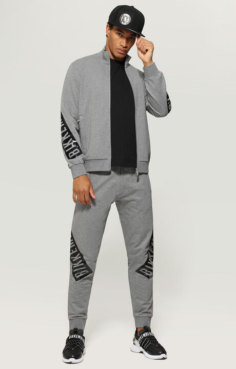 FLEECE PANTS, Grey Melange, hi-res-1