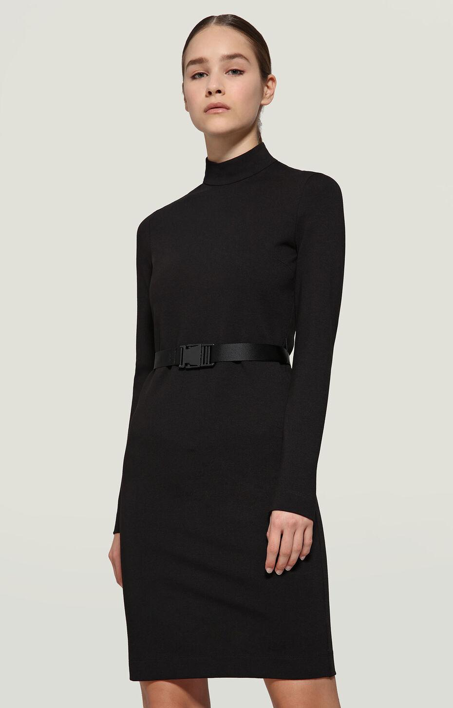 DRESS WITH BELT-PUNTO MILANO, BLACK, hi-res-1
