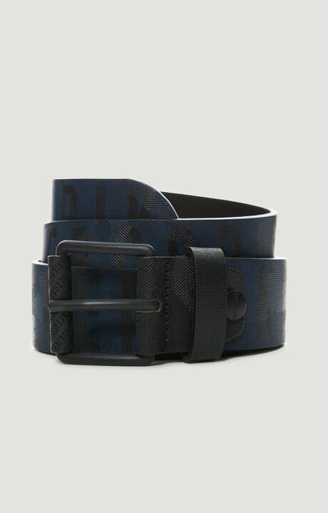 MAN BELT 4 CM, Noir/Bleu Marine, hi-res-1