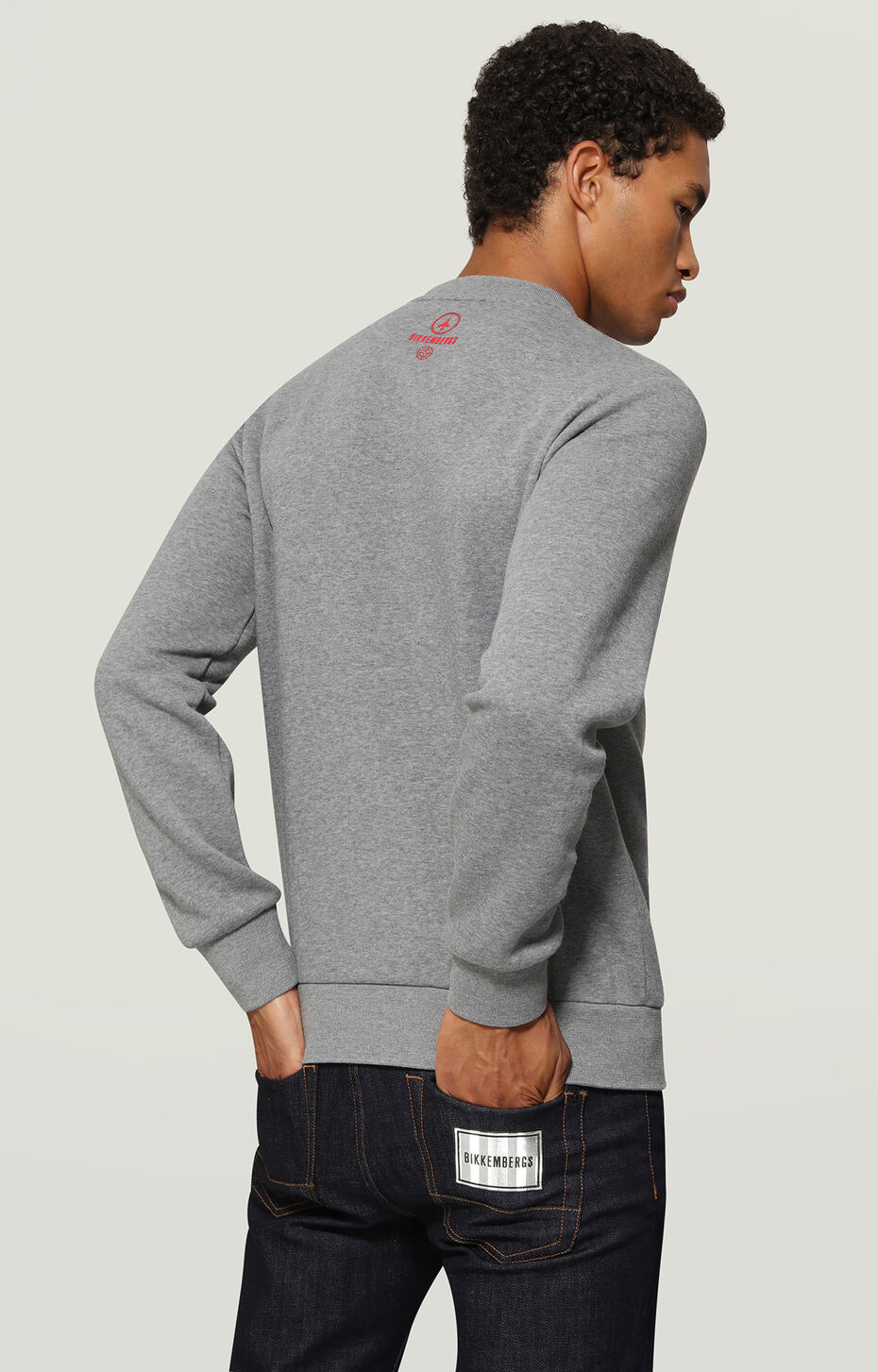 SWEATSHIRT, Grey Melange, hi-res-1