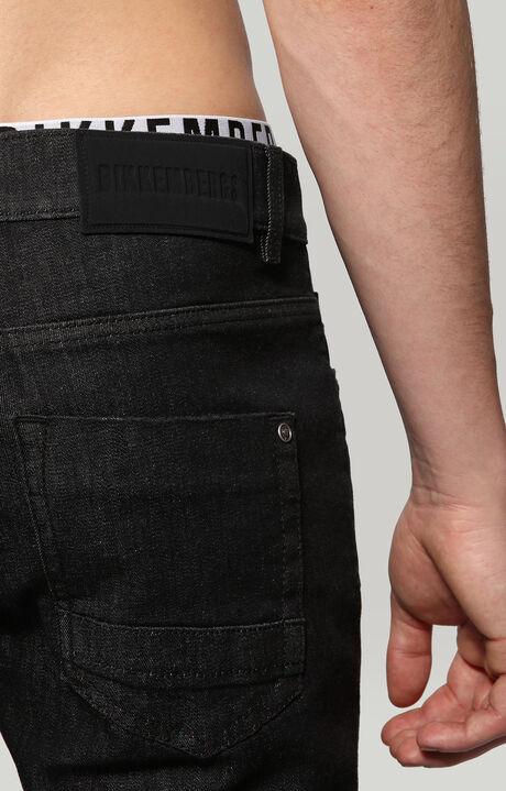 PANT.5 TASCHE DENIM, STRETCH COTTON BLACK DENIM, hi-res-1