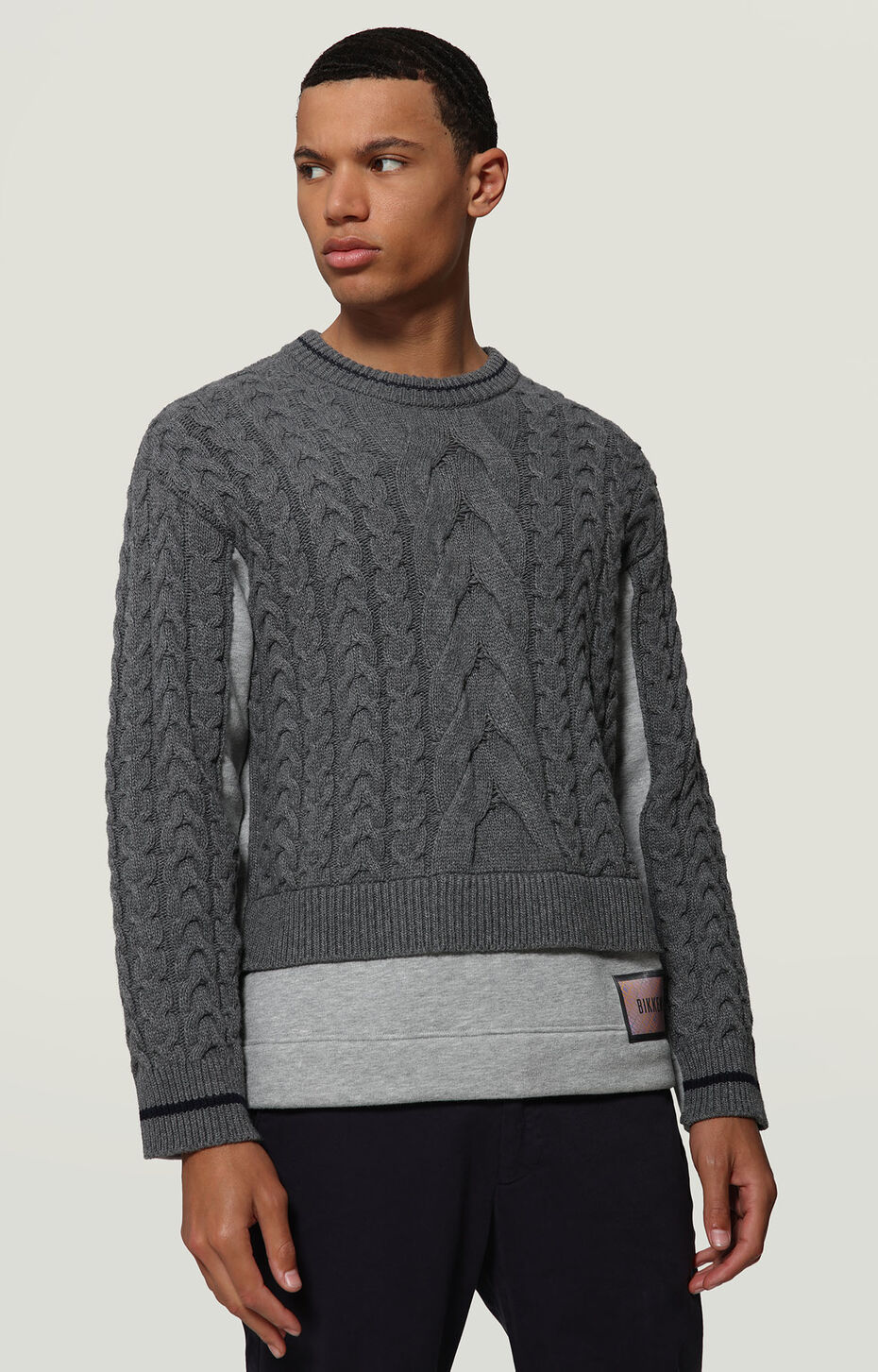 SWEATER, DARK GREY MELANGE, hi-res-1