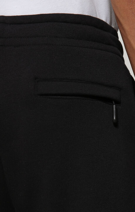 FLEECE PANTS WITH LOGO TAPE, BLACK, hi-res-1