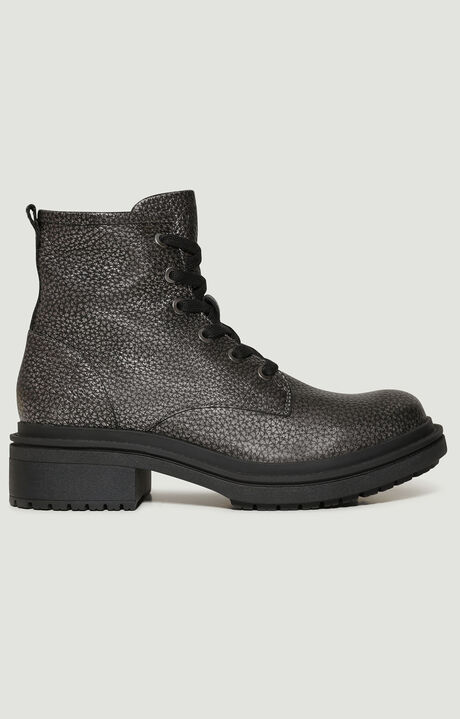 SAORY  -  LACE UP BOOTIE, Gunmetal, hi-res-1