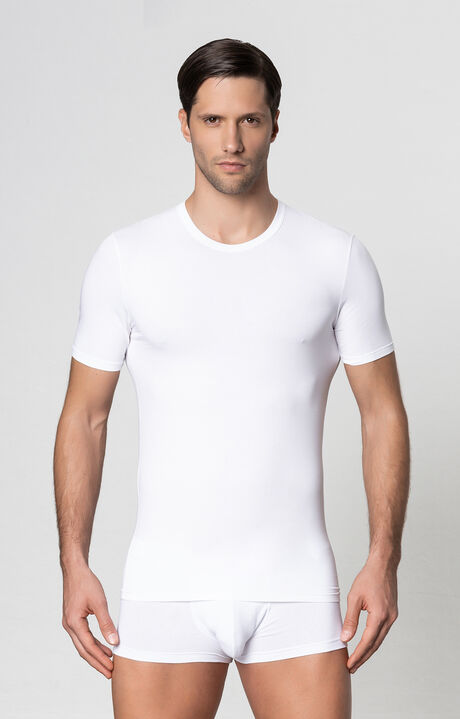 T-SHIRT JERSEY, Blanc, hi-res-1