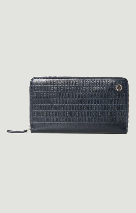 ZIPPED WALLET ALL OVER, Navy/Blu, hi-res-1