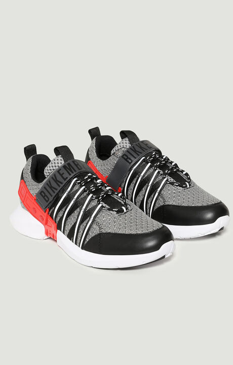 GEDEON  -  LOW TOP LACE UP, Grey/Red, hi-res-1