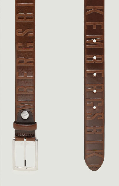 MAN BELT 3,5 CM, Dark Brown, hi-res-1