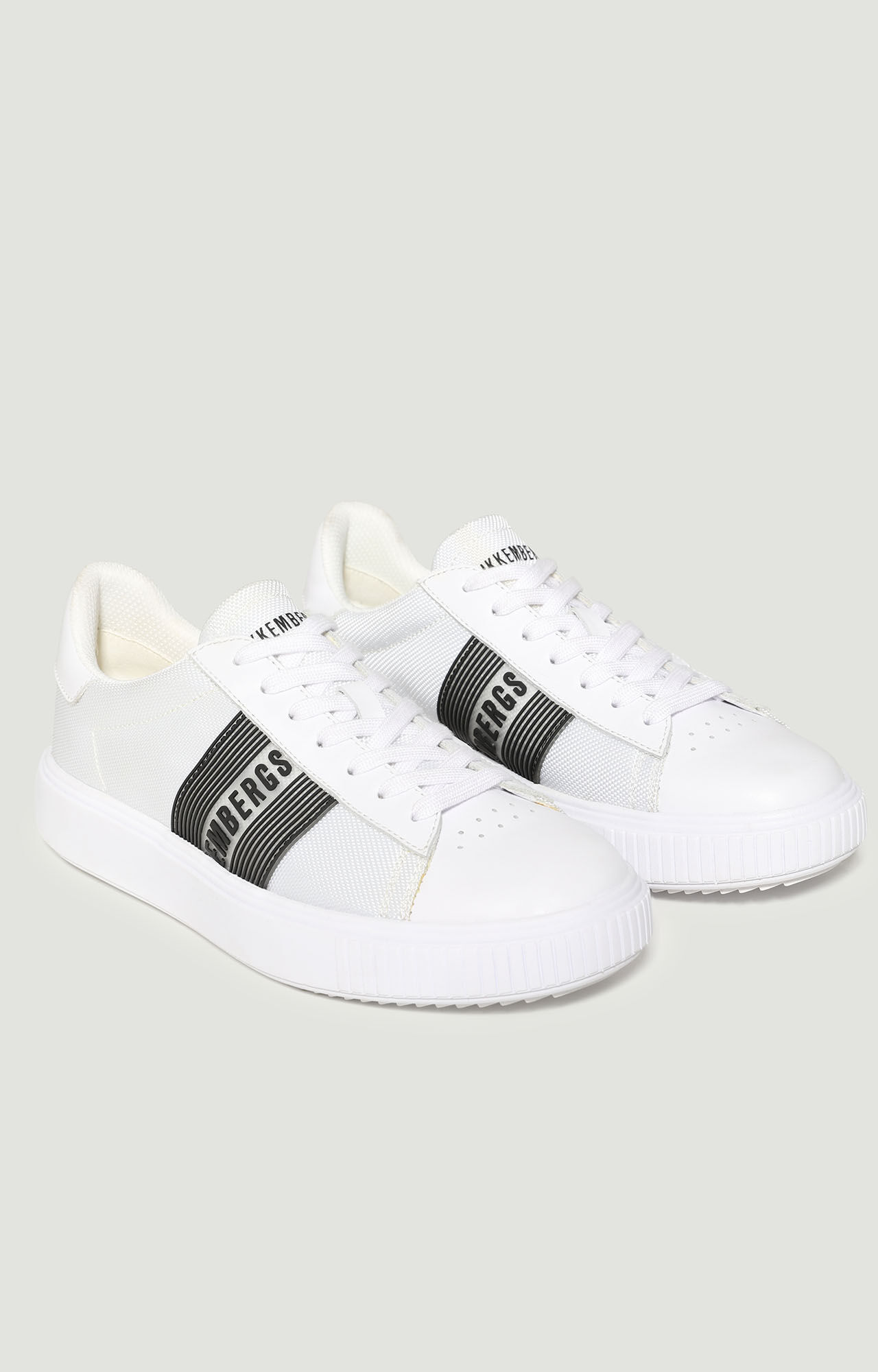 Cesan men's leather sneakers, WHITE