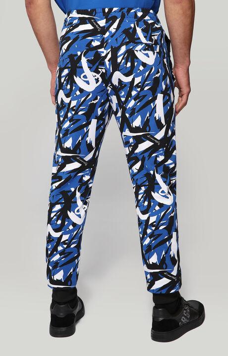 FLEECE PANTS(FELPA), BLUE/BLACK/WHITE, hi-res-1