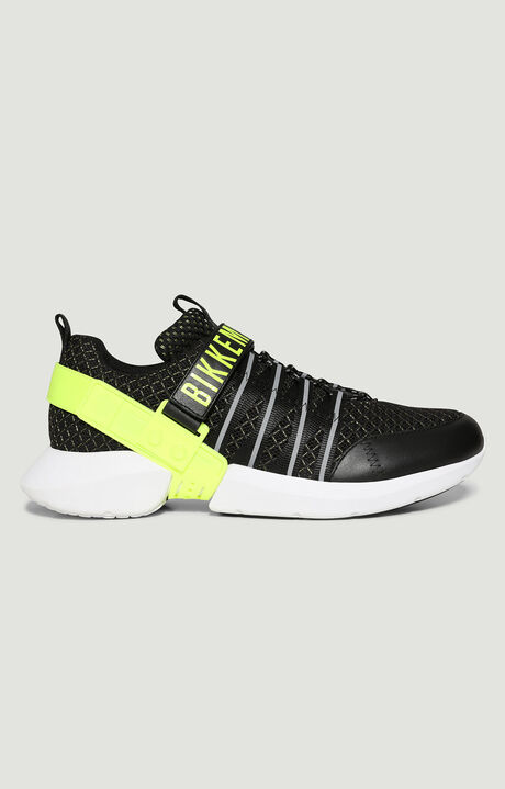 GEDEON  -  LOW TOP LACE UP, Negro/Amarillo Fluo, hi-res-1