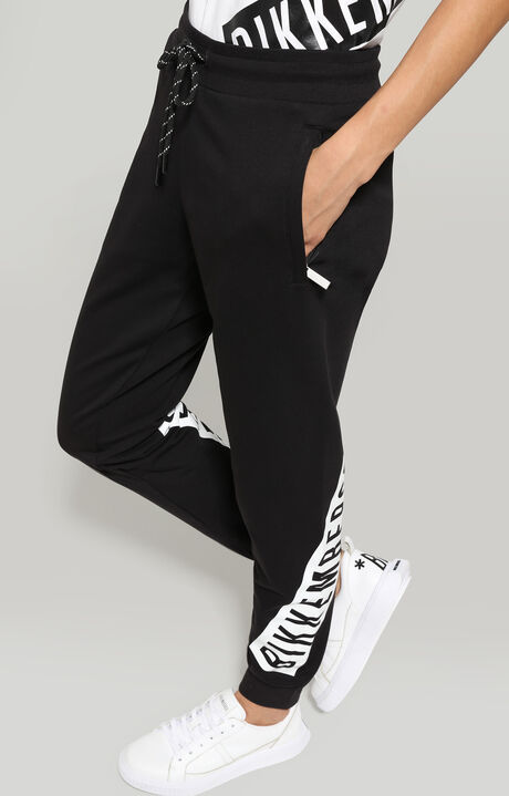 FLEECE PANTS, Black, hi-res-1