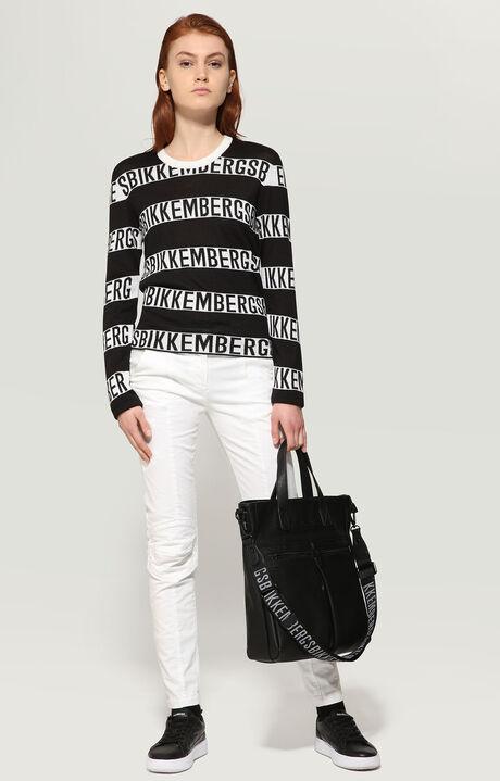 SWEATER, White/Black, hi-res-1