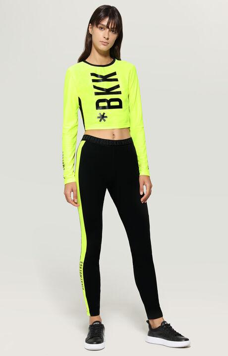 T-SHIRT, Fluo Yellow/Black, hi-res-1