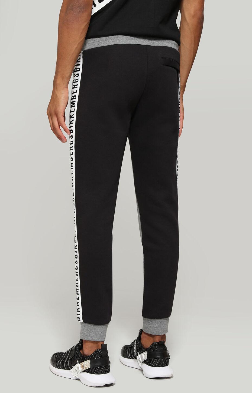 FLEECE PANTS, Серый Меланж/Черный, hi-res-1