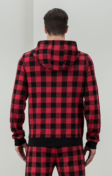 SWEATSHIRT CHECK, Rot, hi-res-1