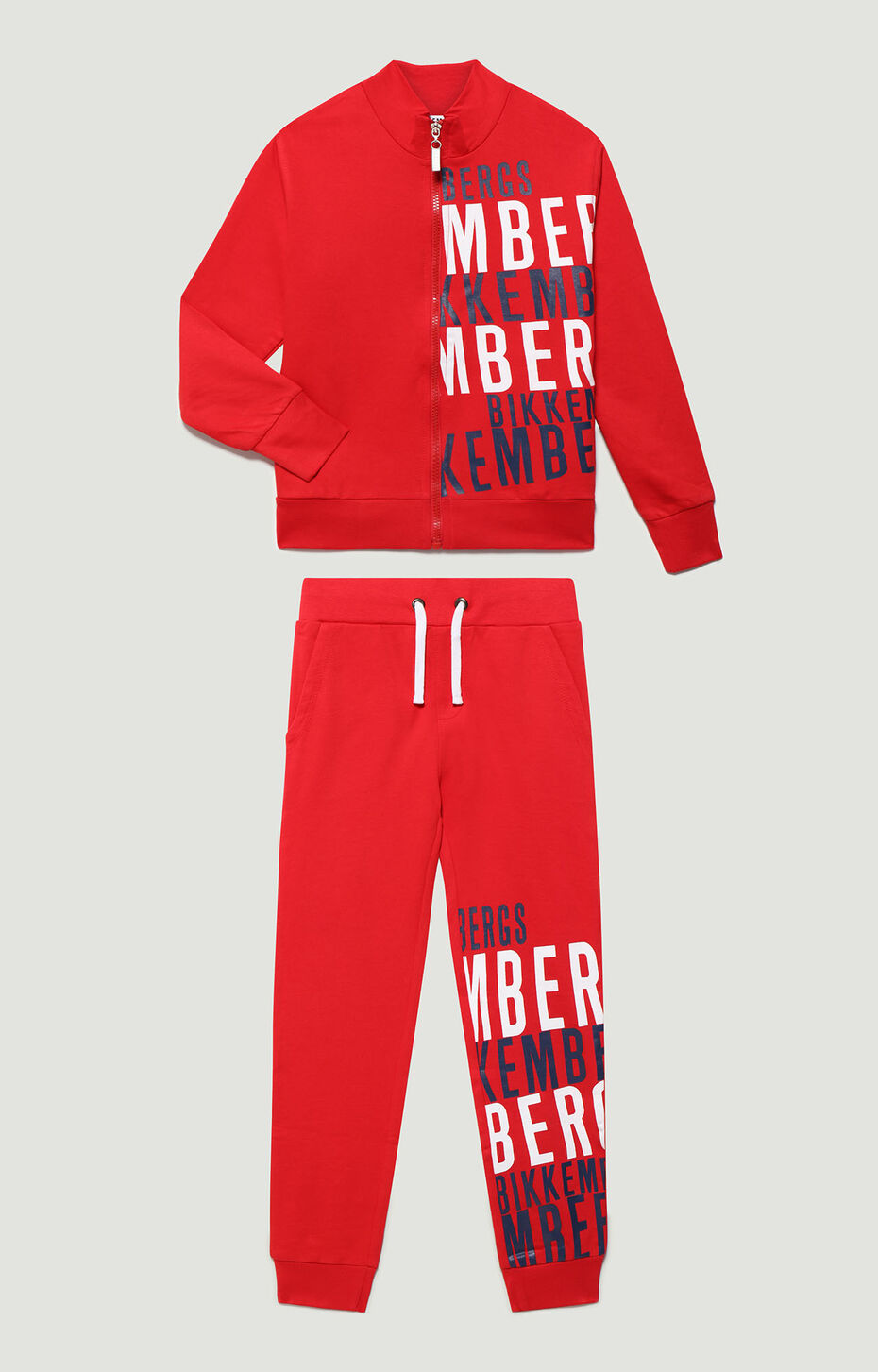 FLEECE TRACKSUIT, RED, hi-res-1