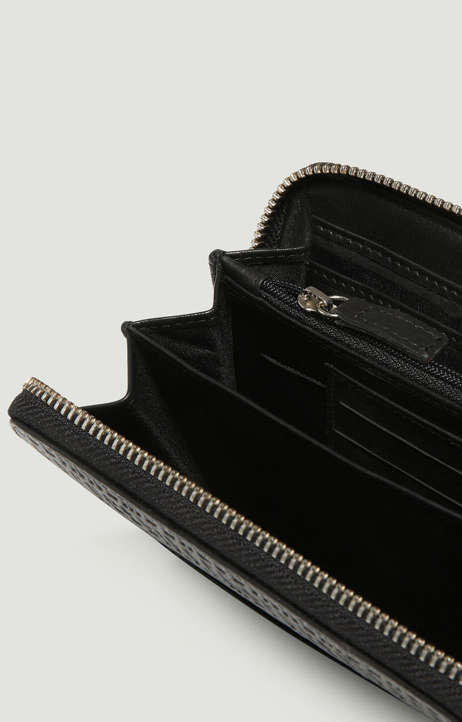 ZIPPED WALLET ALL OVER WALLET 306, Nero, hi-res-1