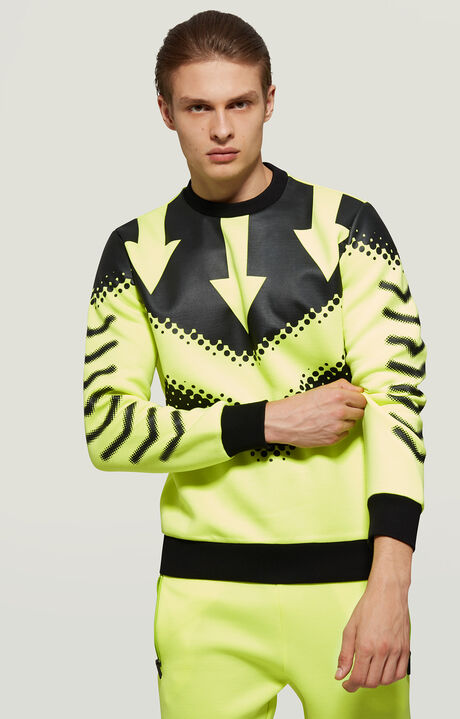 SWEATSHIRT, Fluo Yellow, hi-res-1