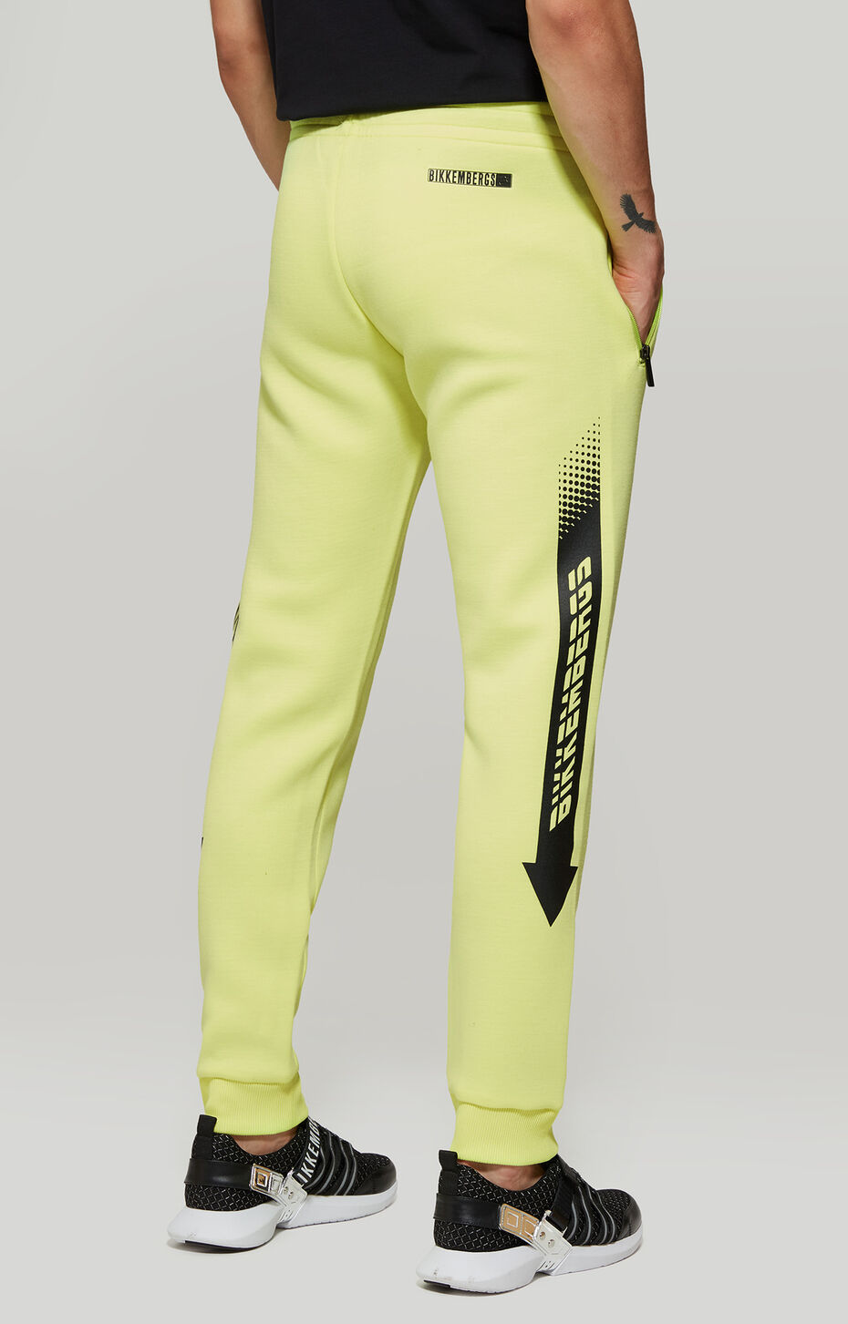 FLEECE PANTS, Fluo Yellow, hi-res-1