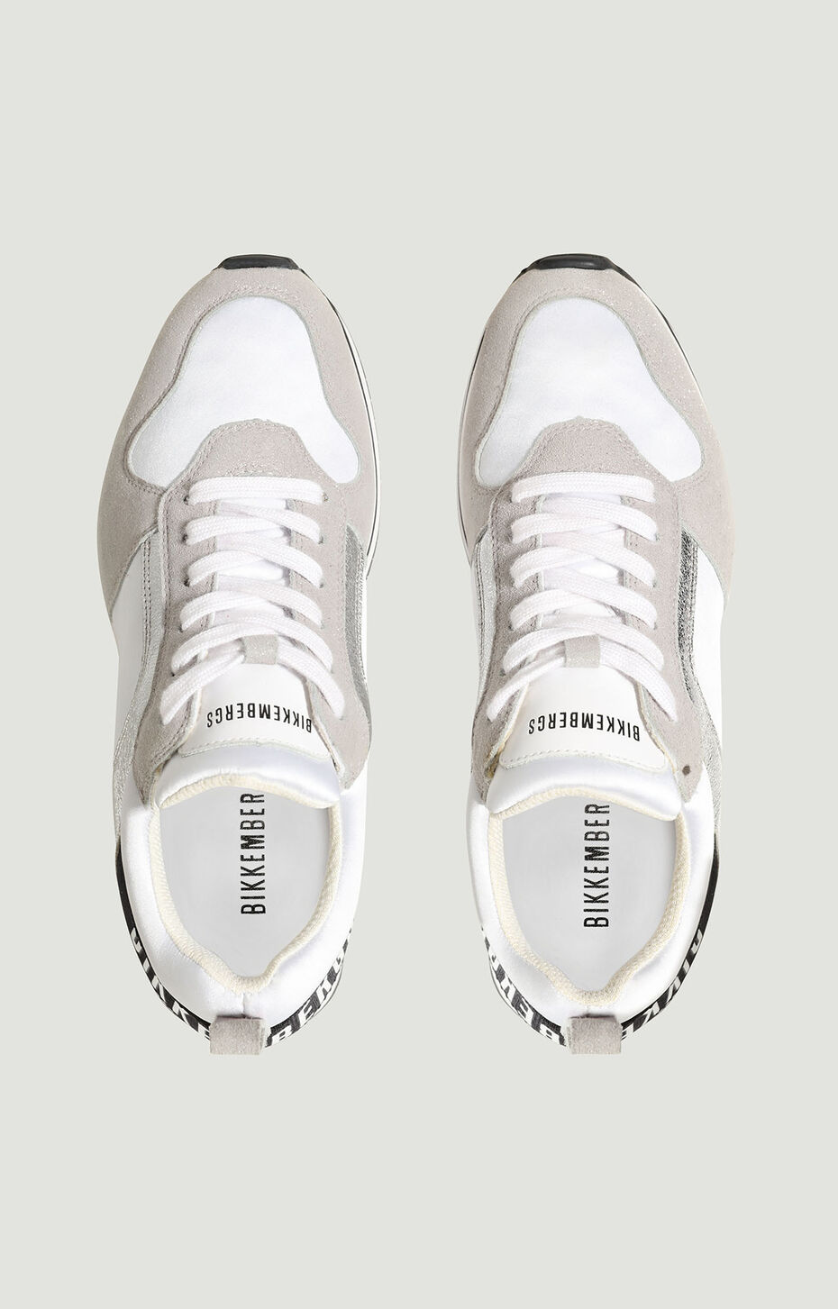 LADENE  -  LOW TOP LACE UP, WHITE/SILVER, hi-res-1