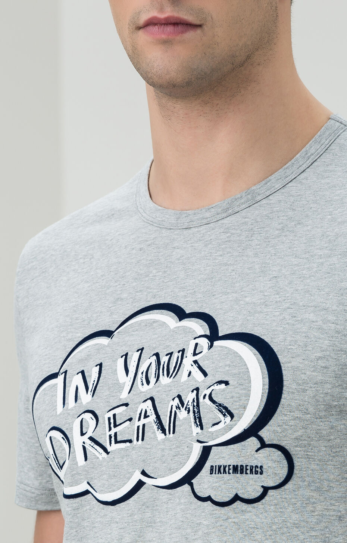 T-SHIRT DREAMS, Gris Mélangé, hi-res-1