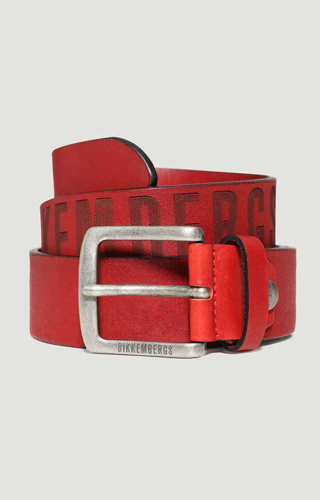 MAN BELT 4 CM, Red, hi-res-1