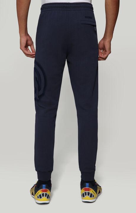 FLEECE PANTS WITH LOGO PRINT, BLUE, hi-res-1