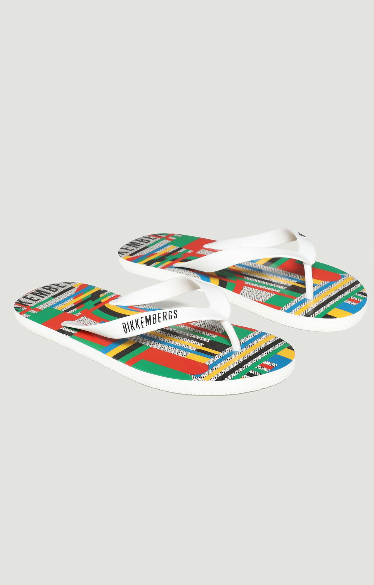 Rubber flip flops with logo, MULTICOLOR