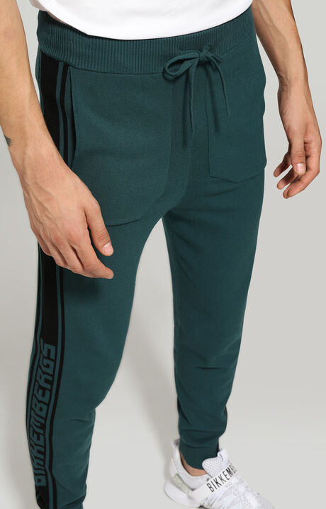 TROUSERS, Petrol/Black, hi-res-1