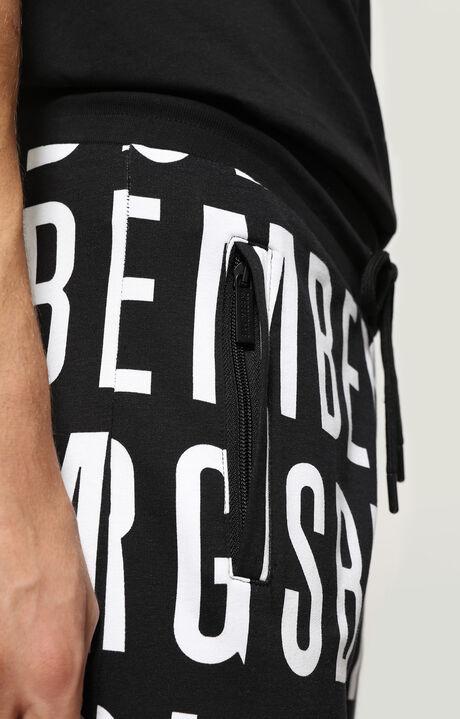 FLEECE PANTS, Black/White, hi-res-1