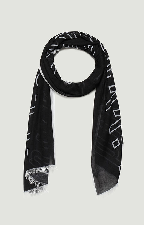 45X180 SCARF, BLACK, hi-res-1