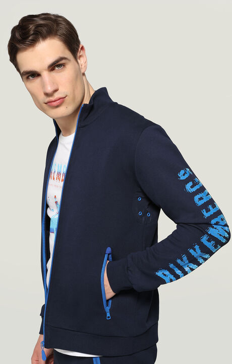 FULLZIP JACKET, BLUE, hi-res-1