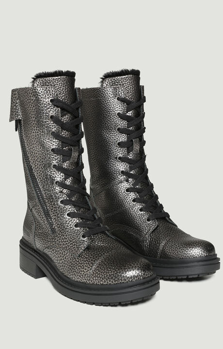 SARALEE  -  ZIP BOOT, Gunmetal, hi-res-1