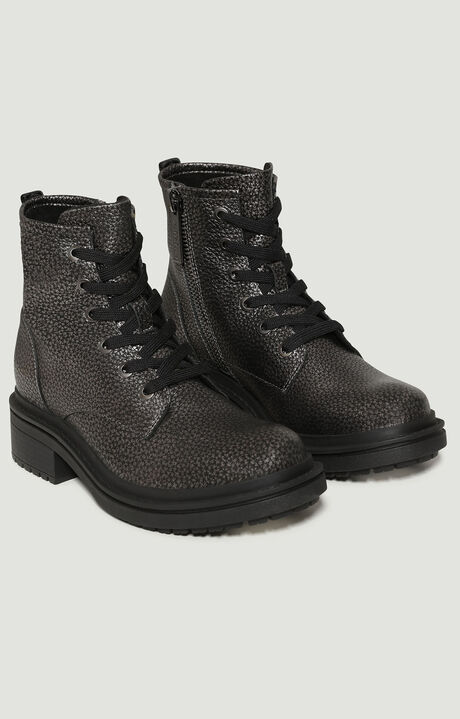 SAORY  -  LACE UP BOOTIE, Свинцово-Серый, hi-res-1