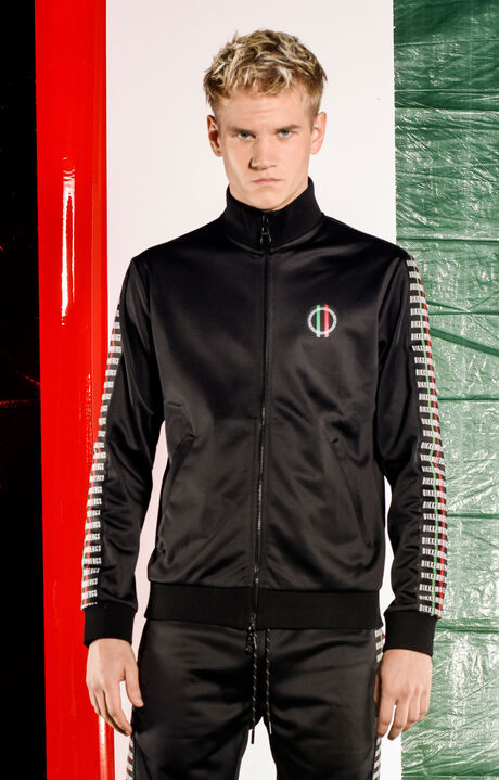 TRACK JACKET WITH ZIP CAPSULE #TRENTA, Black, hi-res-1